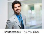 handsome businessman portrait | Shutterstock . vector #437431321