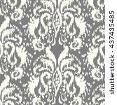 ikat ogee seamless pattern | Shutterstock .eps vector #437435485