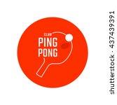 table tennis emblem. ping pong... | Shutterstock .eps vector #437439391
