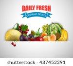 fruits background.vector | Shutterstock .eps vector #437452291