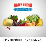 fruits background | Shutterstock . vector #437452327