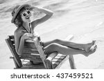 Happy Summer Girl In 50s...