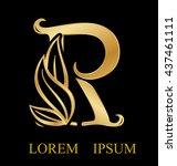 abstract letter r logo design... | Shutterstock .eps vector #437461111