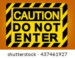 caution label graphic vector | Shutterstock .eps vector #437461927
