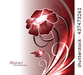 abstract vector shiny red... | Shutterstock .eps vector #437473261