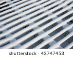 Cattle Grid Covered By Snow