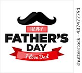 father's day poster... | Shutterstock .eps vector #437477791