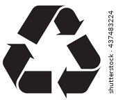 recycle symbol | Shutterstock .eps vector #437483224
