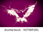 Abstract Dove On Fire Flying I...