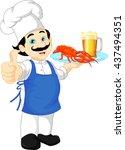 Chef Cartoon Thump Up