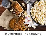 top view of a pot full of... | Shutterstock . vector #437500249