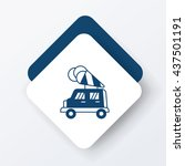 ice cream car icon | Shutterstock .eps vector #437501191