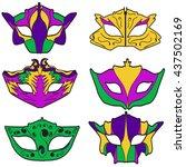vector carnival mask   Shutterstock .eps vector #437502169