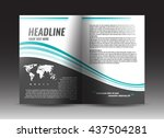 corporate brochure template... | Shutterstock .eps vector #437504281