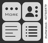 hamburger menu icons set. white ...