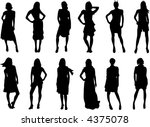 set of fashion silhouettes | Shutterstock . vector #4375078
