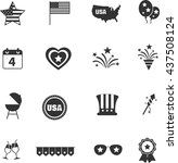independence day icons set | Shutterstock .eps vector #437508124