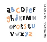 handwriting type for kids | Shutterstock .eps vector #437512114
