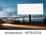 billboard blank for outdoor... | Shutterstock . vector #437513725