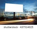 billboard blank for outdoor... | Shutterstock . vector #437514025