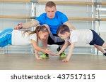 group of children doing kids... | Shutterstock . vector #437517115