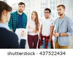 amazed students | Shutterstock . vector #437522434
