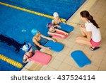 swim training | Shutterstock . vector #437524114