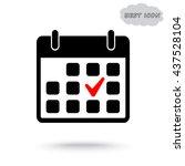 calendar sign icons  vector... | Shutterstock .eps vector #437528104