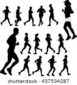 people running collection  ...   Shutterstock .eps vector #437534287