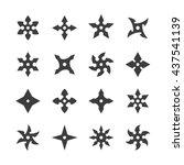 ninja stars icons. | Shutterstock .eps vector #437541139