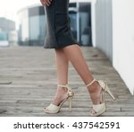 woman walking | Shutterstock . vector #437542591