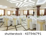 wedding hall or other function... | Shutterstock . vector #437546791