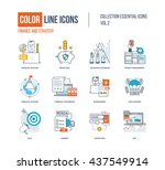 color thin line icons set. logo ... | Shutterstock .eps vector #437549914