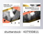 layout design template  annual... | Shutterstock .eps vector #437550811