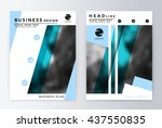 layout design template  annual... | Shutterstock .eps vector #437550835