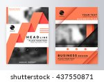 layout design template  annual... | Shutterstock .eps vector #437550871