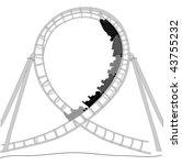 roller coaster silhouette | Shutterstock .eps vector #43755232