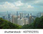 hong kong skyline | Shutterstock . vector #437552551