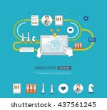 concepts for business analysis... | Shutterstock .eps vector #437561245
