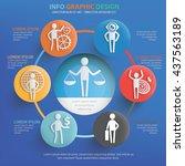 businessman character info... | Shutterstock .eps vector #437563189
