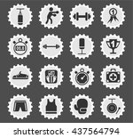 boxing web icons for user... | Shutterstock .eps vector #437564794