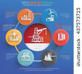 industry info graphic design on ... | Shutterstock .eps vector #437573725