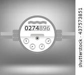vector water meter icon... | Shutterstock .eps vector #437573851