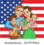 Happy Usa Family