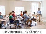 education  school and people... | Shutterstock . vector #437578447