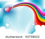 Rainbow And Heart  Design  ...