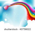 Rainbow And Heart  Design  ...