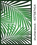 die cut card. laser cut vector... | Shutterstock .eps vector #437587414
