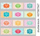 vector template business card.... | Shutterstock .eps vector #437587567