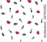 fashion seamless pattern. hand... | Shutterstock . vector #437591401